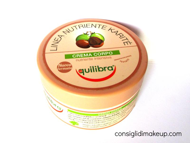 crema corpo nutriente intensiva burro di karitè equilibra