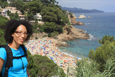 Costa Brava and Sant Francesc beach in Blanes