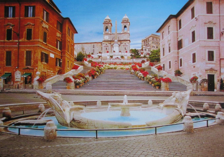 Den spanske Trappe i Rom