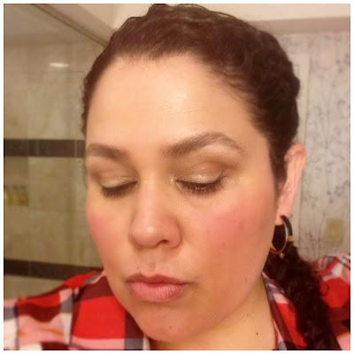Neutrogena, makeup, crease proof eye shadow, holiday beauty looks, nude lips, gold eye shimmer, natural look, latina style blogger