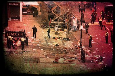 Police investigate bombing scene