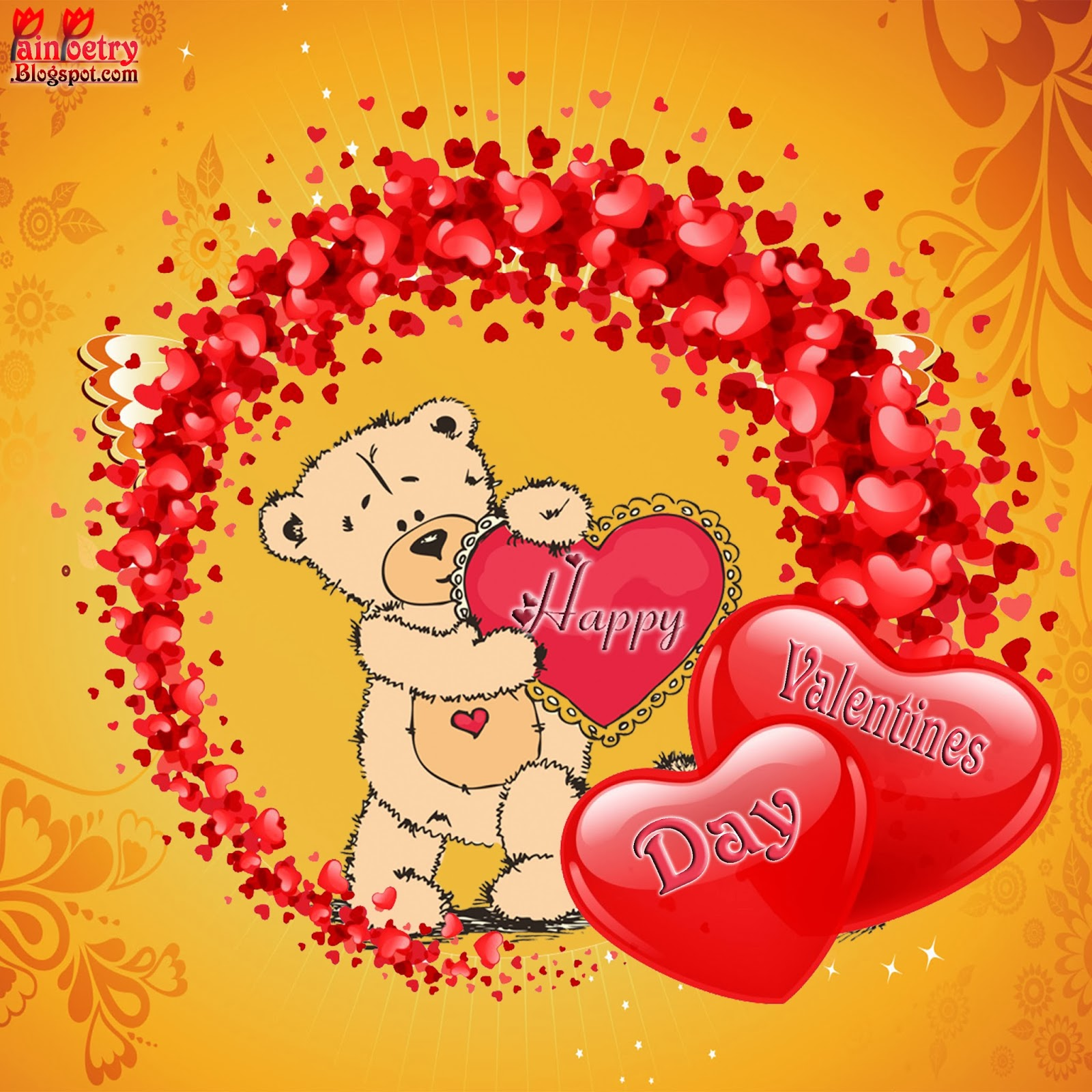 Happy-Walentines-Day-With-3-Hearts-Image-Wide