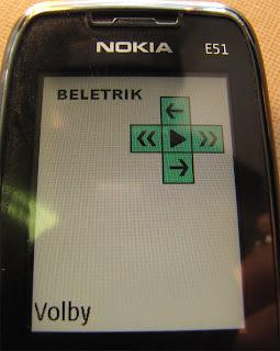 Beletrik - úvodní obrazovka