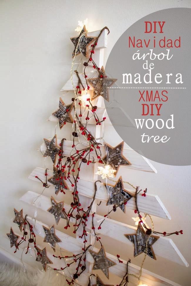 Diy rbol de navidad de madera video boho deco chic - Arboles de navidad de madera ...
