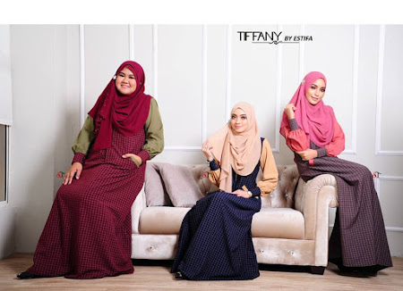 Koleksi Paling Menawan.Jubah Tiffany Dengan PElbagai Warna Warna Manis. Semuanya Cantik.