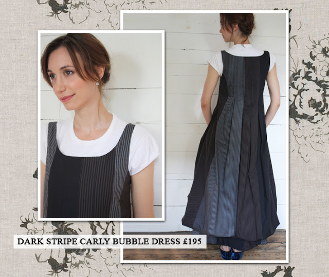 Cabbages & Roses Dark Stripe Carly Bubble Dress