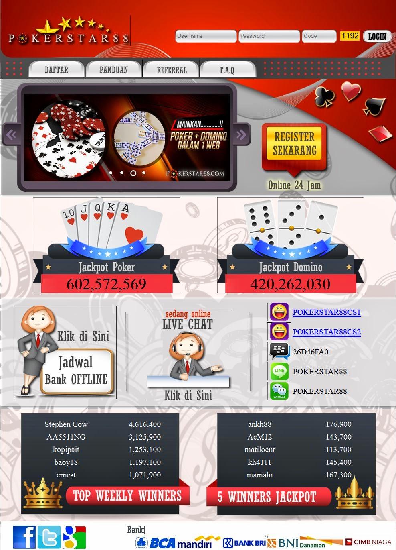 PokerStar88.com Agen Texas Poker Dan Domino Online Indonesia Terpercaya