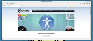 Firefox - versione attuale in Gnome Shell