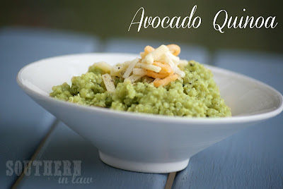 Quinoa with Avocado - gluten free, low fat, healthy recipe