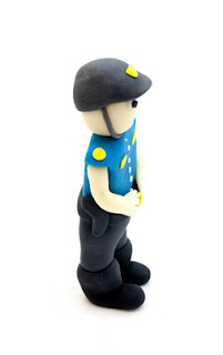 Policist iz tičino mase - Policeman from fondant