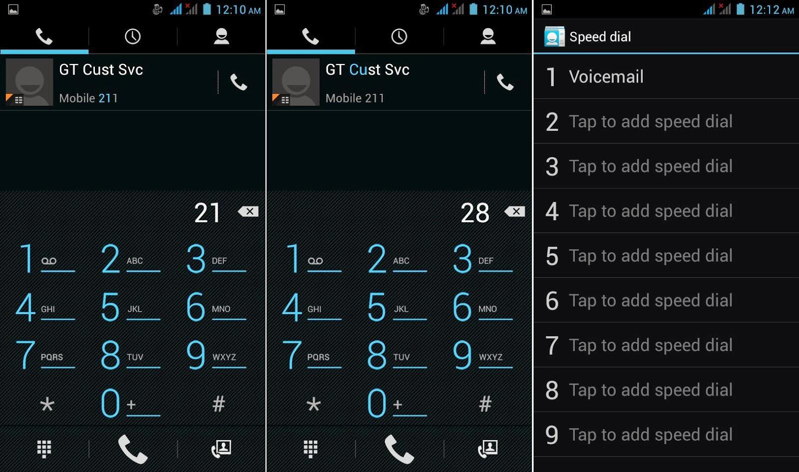 DTC Mobile GT17 Jupiter Dial Pad