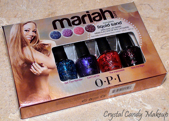 Collection Mariah Carey d'OPI - Liquid Sand Mini Nail Lacquers - Get Your Number, Can't Let Go, The Impossible, Stay The Night