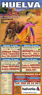 Huelva - Fiestas Colombinas 2014 - Cartel Taurino