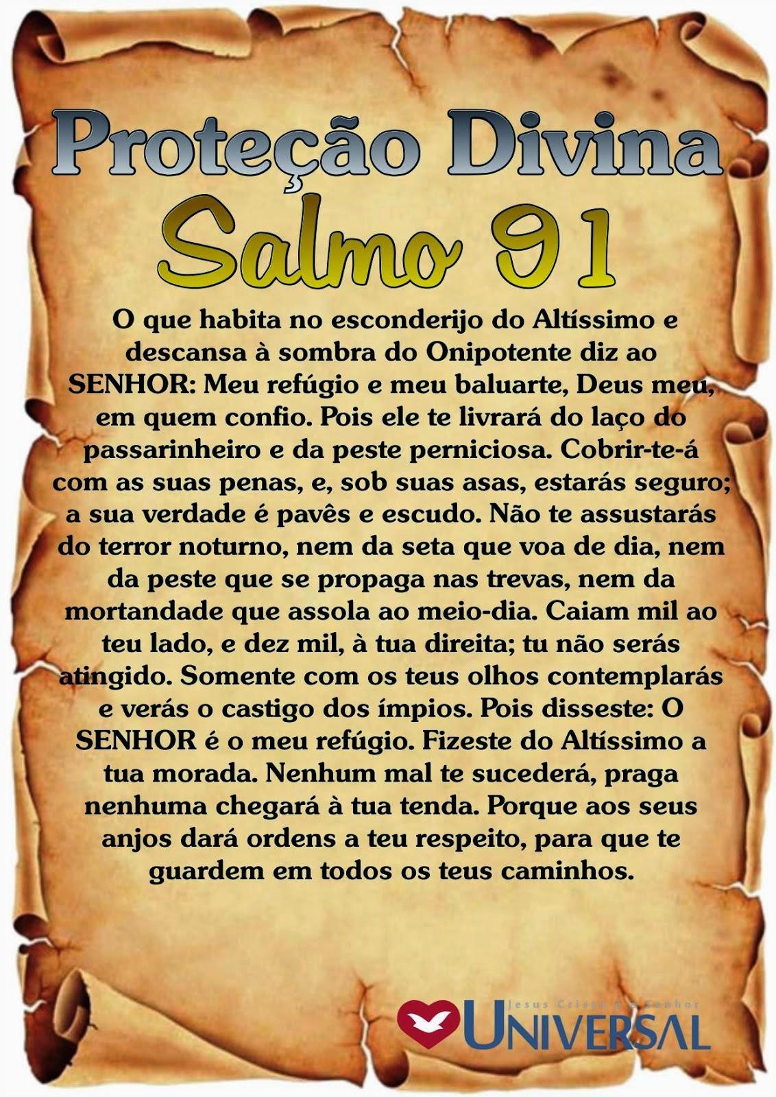 Conhecido PROTEÇÃO DIVINA SALMO 91   IMPACTO DA FÉ UL03