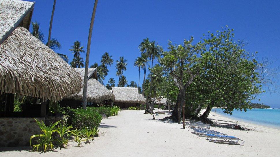 Bungalow sur la plage à Moorea