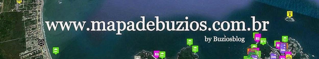 Mapa de Búzios   by  Buziosblog.com.br