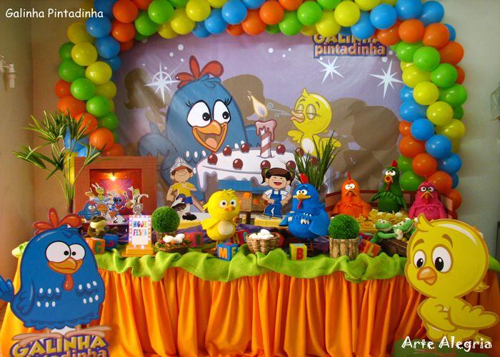 decoracao galinha pintadinha azul e amarelo:Dicas para Festas Infantis: Fenômeno: Galinha Pintadinha, sensação