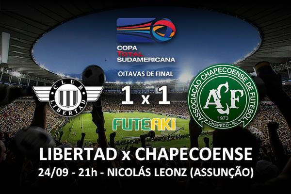 Veja o resumo da partida com os gols e os melhores momentos de Libertad 1x1 Chapecoense pelas oitavas de final da Copa Sul-Americana 2015.