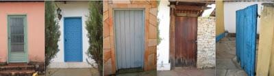 5 doors: 4 shut, 1 open