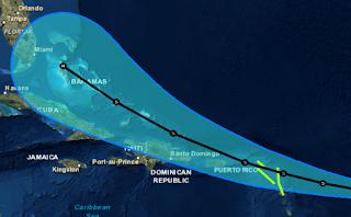 Tropischer Sturm Erika Dominikanischer Republik Florida