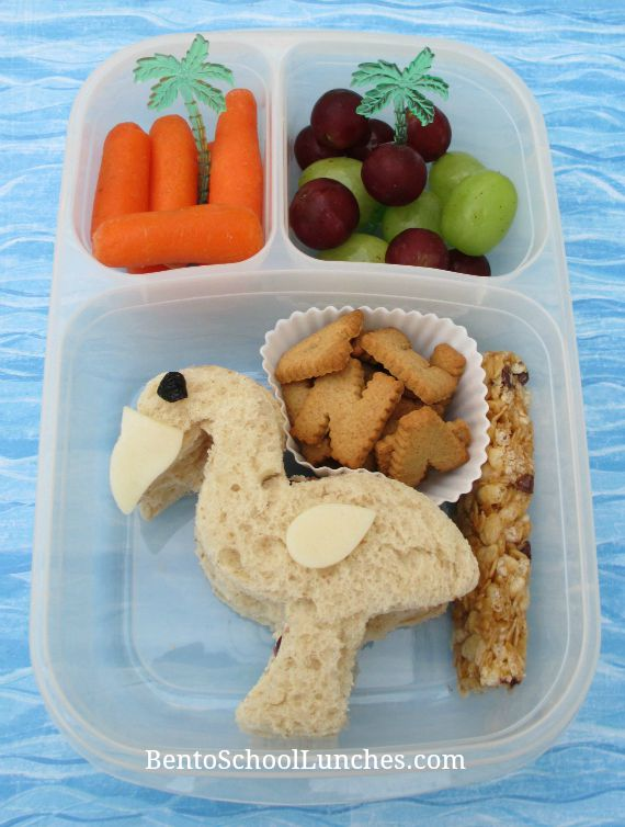 Flamingo school lunch.