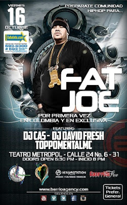Por primera vez en Bogotá: FAT JOE