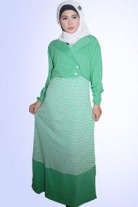 Idmonia Gamis 09 - Hijau (Toko Jilbab dan Busana Muslimah Terbaru)