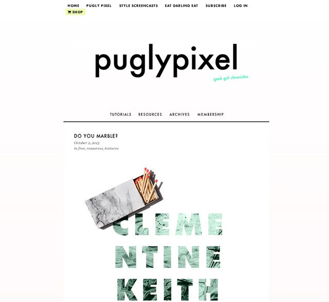 puglypixel blog screenshot