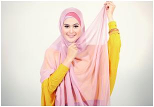 cara memakai jilbab4
