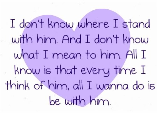 Quotes love for him