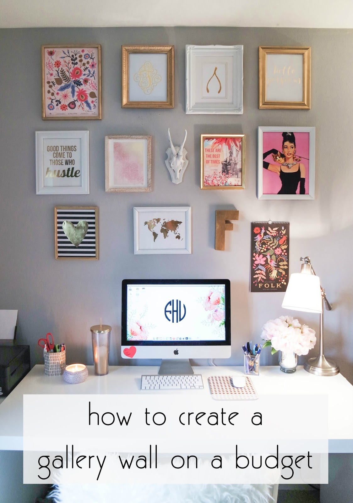 Franish creating a gallery wall on a budget - College living room decorating ideas for students ...
