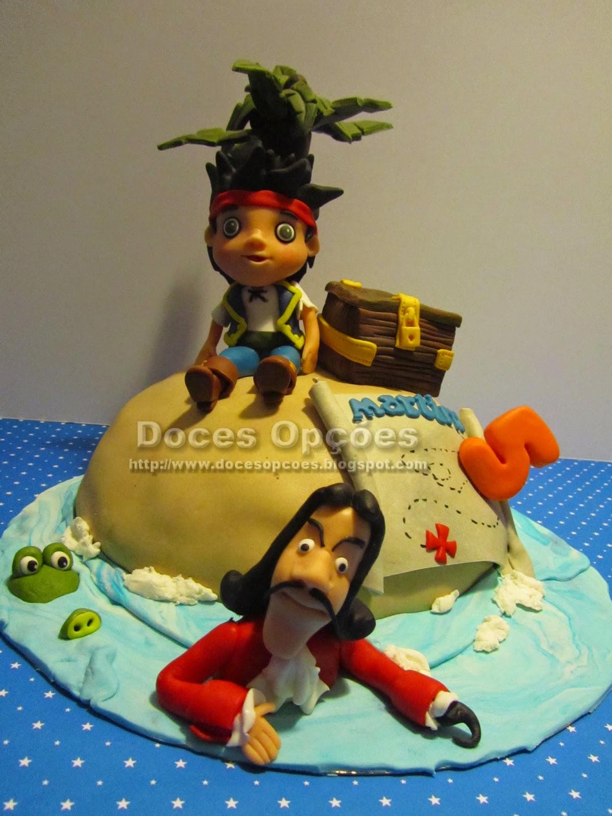 bolo aniversário ilha do tesouro