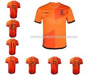 Camisetas Futbol BaratasCamiseta Holanda 1 Equipacion 201213