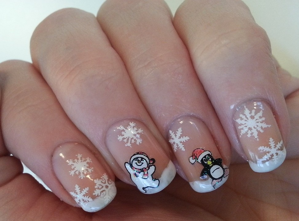 Pie\'s Eyes & Other Sparkly Stories...: Christmas French Manicure