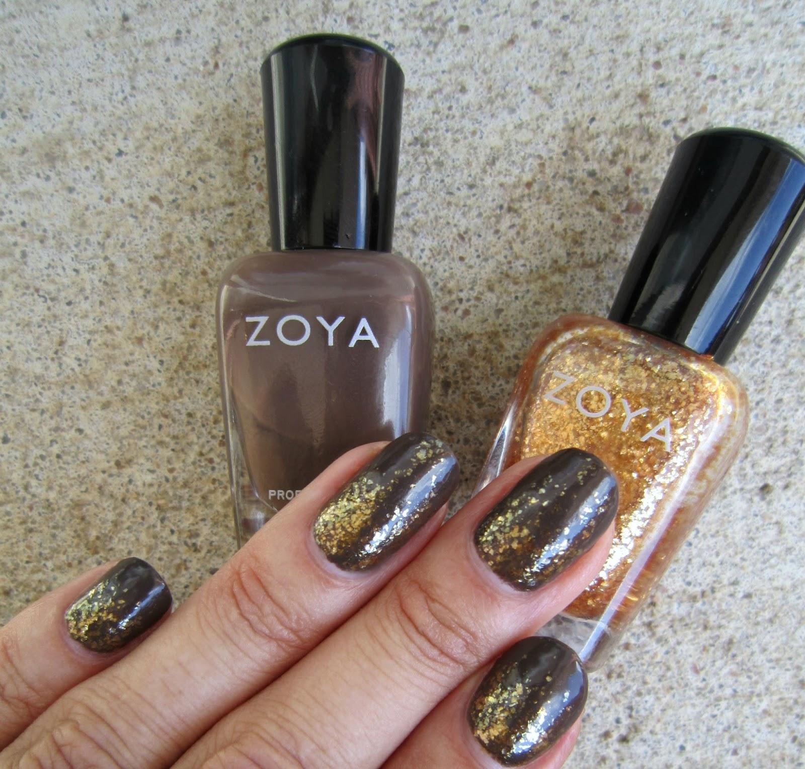 Concrete And Nail Polish Striped Nail Art: Concrete And Nail Polish: Gradient With Zoya Emilia