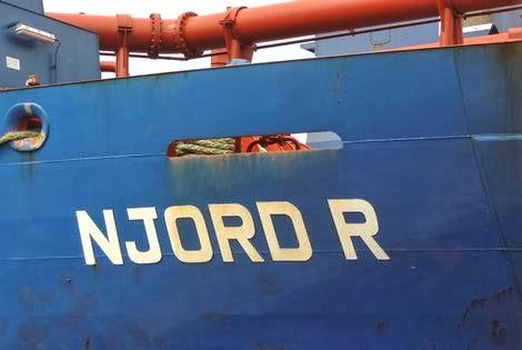 Actuele positie van hopperzuiger Njord R