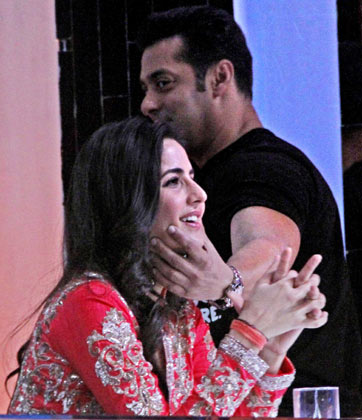 Salman Khan finds it hard to keep his hands off his former girlfriend Katrina Kaif