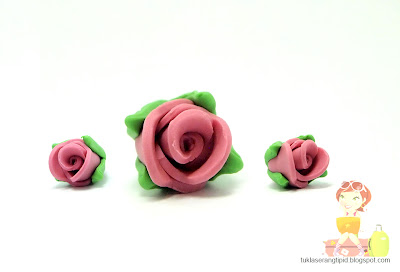clay rose flower pink rose bud handcrafts arts creative DIY