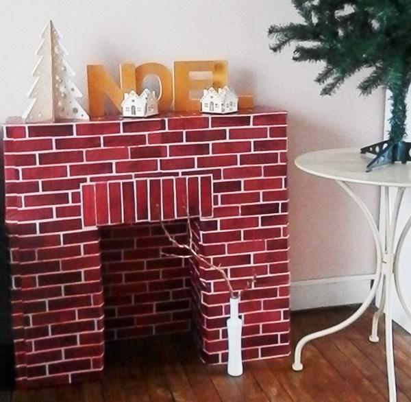 Ma cheminée est en carton