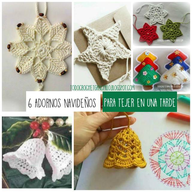 patrones de adornos navideños para tejer al crochet