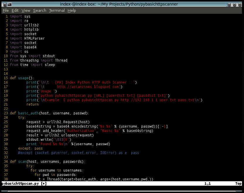 0x22 pybasic scan py   python basic http pentest tool