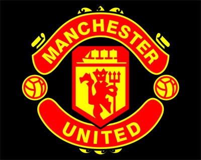 Manchester united logo in black e logos manchester united mu logo in black background voltagebd Gallery