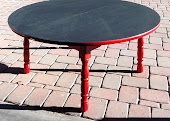 Childs Chalkboard Table Bright Red $79  Size 29X42