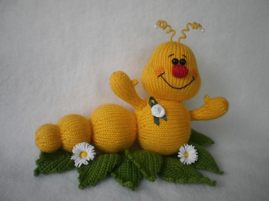 Вязаные игрушки спицами для детей своими руками 24