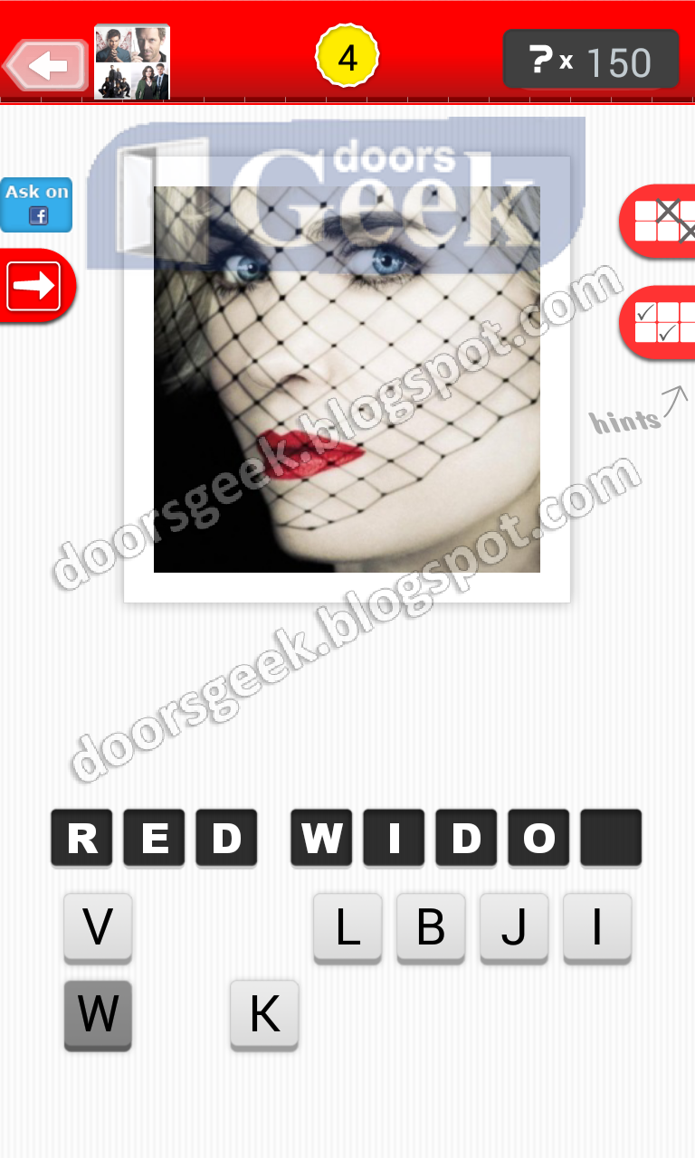 answer red widow guess the tv show level 18 4 answer cheats solution