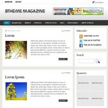BTheme Magazine blogger template. image slideshow blog template.image slideshow blogspot template blog. clean game template blog