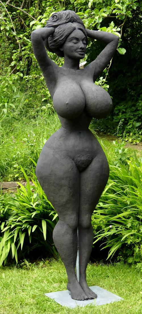 Her plastic Erotic statue lifesize SUPER lovely