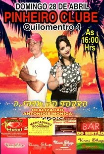 DADIM DO FORRÓ DIA 28 DE ABRIL NO PINHEIRO CLUB