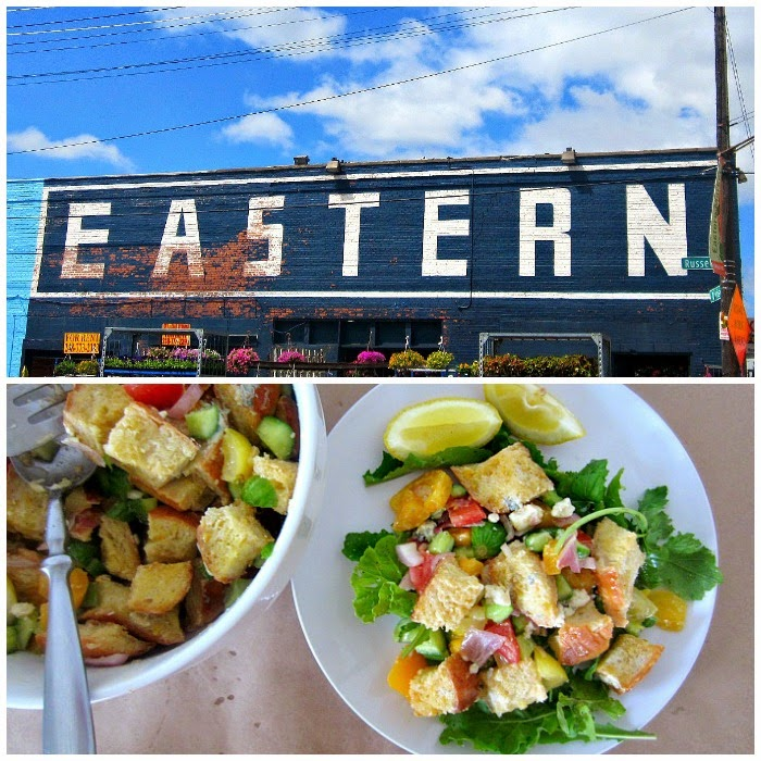 Eastern Market Panzanella | Easy, fresh bread salad via Club Narwhal