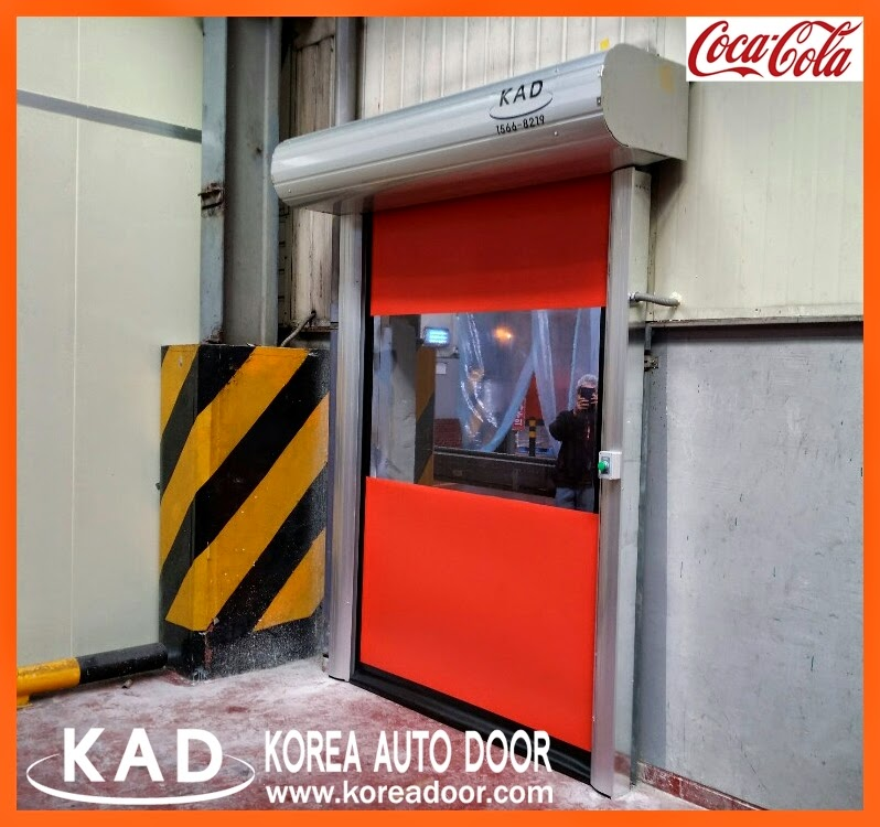 With proven work performance, KAD high speed doors have installed in global company coca cola.